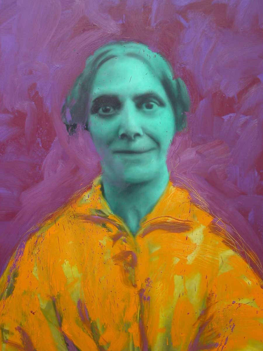 Purple Portrait - Richard Moon
