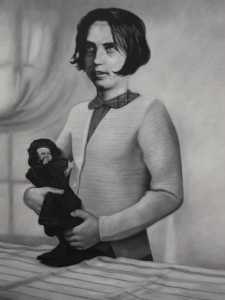 Girl with a Doll - Richard Moon