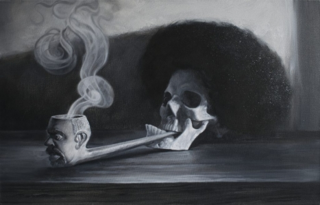 Skull, Pipe & Wig - Richard Moon